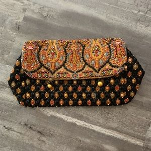 VTG 1950's Odette Beaded Mallorcan Shawl Clutch